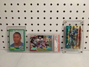 Barry Sanders Score Rookie Card and PSA Graded Lot of 3