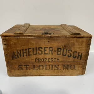 Original Antique Pre-Prohibition Anheuser Busch Beer Crate