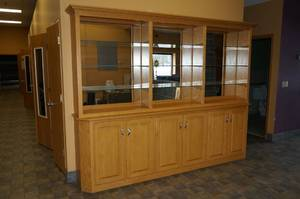 Wood Hutch/Display Cabinet