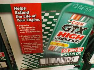 Case of 6 1 qt bottles Castrol GTX ...