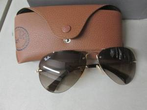 Ray Ban Aviator Sun Glasses open bo...