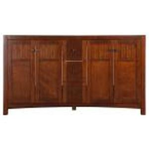 Knoxville 60 in. W Bath Vanity Cabinet Only in Nutmeg in good condition