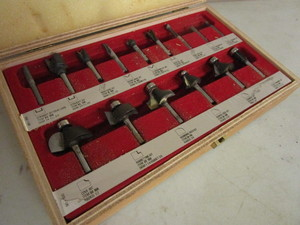 FREUD PROFESSIONAL WOODWORKING ROUTER BIT SET, MADE IN ITALY