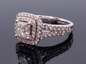 "Vera Wang ""Love"" Collection 2.25 Carat Diamond and Sapphire Engagement Ring with Original Box and Papers; $11,000+ Retail"