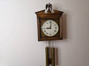 E. Schmeckenbecher Chiming Pendulum Wall Clock
