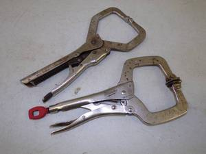 Pair of Locking Welding Pliers