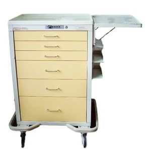 MSRP $3000 ARMSTRONG A-Smart All Steel Crash Pharmacy Medication 6 Drawer Cart With Flip Up Shelf