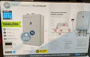Performance Platinum 9.5 GPM Natural Gas High Efficiency Indoor Tankless Water Heater CUSTOMER RETURNS SEE PICTURES