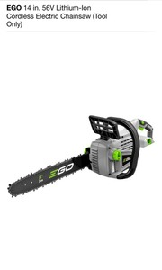EGO 14 in. 56V Lithium-Ion Cordless Electric Chainsaw (TOOL-ONLY) NOT USED SEE PICS!