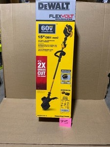 DEWALT 15 in. 60V MAX Lithium-Ion Cordless FLEXVOLT Brushless String Grass Trimmer with (1) 3.0Ah Battery and Charger Included! SEE PICS!