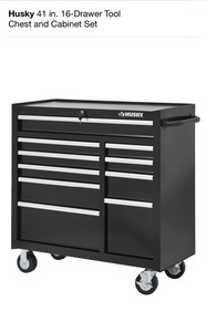 HUSKY 41 IN. 10-DRAWER TOOL CHEST! NOT USED SEE PICS!