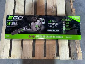 EGO Power+ CS1400 14-Inch 56-Volt Lithium-Ion Cordless Chainsaw - Battery and Charger Not Included in like new condition