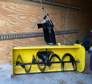 "*(MINT)* 44"" John Deere Tractor Mount Snowblower and Weather Enclosure (view all pics to see everything included)"