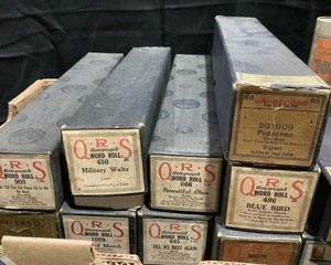 Many Player Piano Music Rolls and Edison Cylinder Records