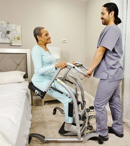 MSRP $2800 HANDICARE SYSTEMROMEDIC QUICKMOVE SIT-TO-STAND PATIENT TRANSFER LIFT & STRENGTHENING REHAB STANDER - LIKE NEW CONDITION! SEE YOUTUBE AND PDF FOR MORE ABOUT THIS GREAT PIECE OF HEALTHCARE EQUIPMENT!
