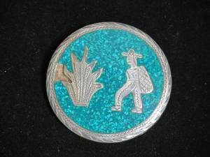 Large Mexican Sterling Silver Pin