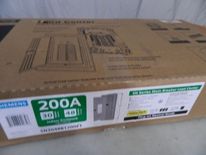 New Siemens 200 Amp Main Breaker Load Center