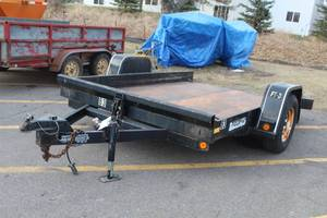 2001 Felling FT-3 Tilt Deck Single Axle Utility Trailer with Steel Bed 10'