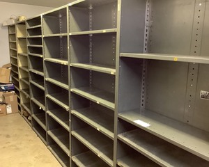 Steel Parts Storage Racks, Qty 6