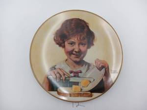 "Norman Rockwell - ""Butter Girl"" Plates -1st in Limited Edition (Valued @ $50)"