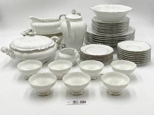 Crown Jewel Fine China 33 Piece Set and Noritake Ivory China Bowl