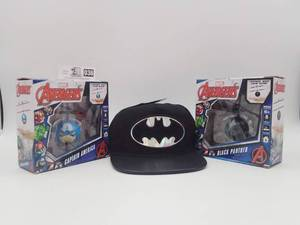 Marvel Avengers Flying Ball Helicopters & Batman Hat
