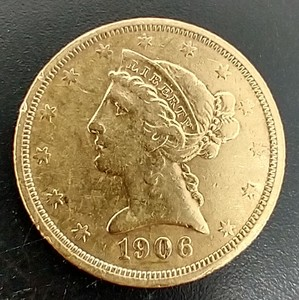 1906-S $5 Liberty Gold Coin