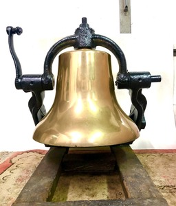 Beautiful HUGE Antique 1880's Steam Locomotive Solid Brass Bell