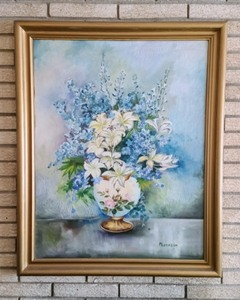 Large Floral Oil Painting