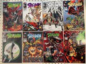 Lot of 8 Spawn Comic Books Issue #8,9,10,11,12,13,14,16