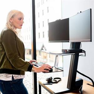 MSRP $1200 Ergotron WorkFit-S Sit-Stand Dual Monitor Workstation - Excellent Condition! Electronics not included Extra Video To Show How To Adjust This Ergotron To Fit Your Needs!