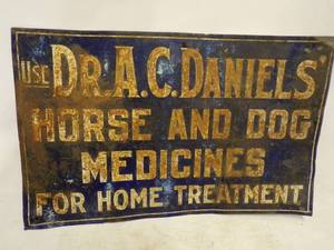 Rare Early 20th Century Embossed Tin Sign