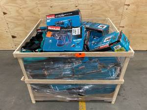 MAKITA- Crate of Various Used Items