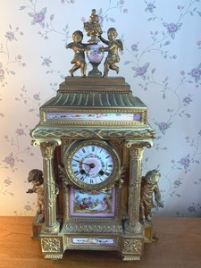 French Figural Cupid Clock
