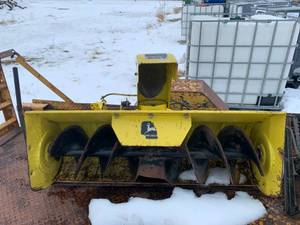 John Deere E060 Snow Blower 46 Inch (was working but sitting for awhile)
