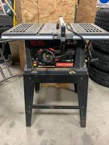 Craftsman 2.5 HP Table Saw