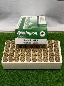 50 Rounds of 9mm Ammunition Ammo