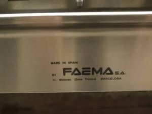 Vintage Commercial Professional FAEMA Traditional Espresso Machine w/ water pump (Estimated Value $7,500) *** No Reserve ***
