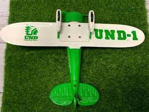 Vintage UND Fighting Sioux Metal Airplane Limited Edition