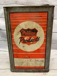 Very Rare 1920s Phillips 66 Gas Can 5 Gallon