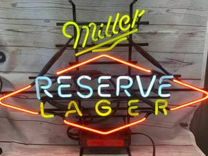 "Miller Reserve Lager Neon Sign Approximately 23""x 33"" Overall"