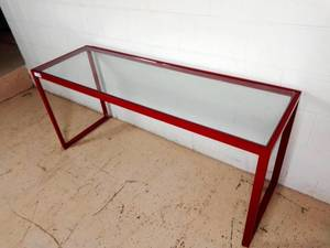 Modern Metal & Glass Display Table