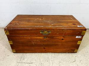Large Cedar Wooden Chest