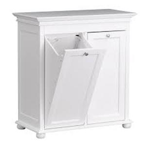 Home Decorators Hampton Harbor 35 in. Double Tilt-Out Hamper in White see pictures