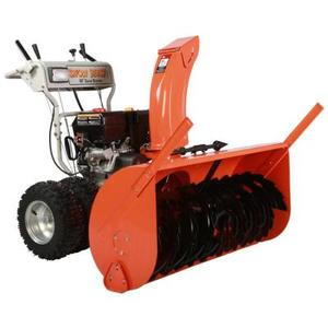 45 in. Commercial 420 cc Electric Start Two-Stage Gas Snow Blower with Headlight, Bonus Drift Cutters and Clean-Out Tool in like new conditions