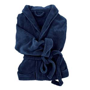 Deluxe Fleece Women's Robe - Navy Blue, 67007-S-NAVY-BLUE, NEW!