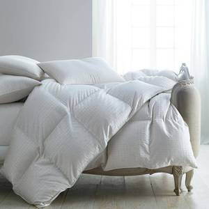 Luxury Royal Baffled Medium Warmth White King Goose Down Comforter, C2T4-K-WHITE, NEW!
