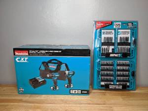 Brand New Makita 1.5 Ah 12-Volt MAX CXT Lithium-Ion Cordless Drill Driver and Impact Driver Combo Kit with 100 Piece Driver Bit Set