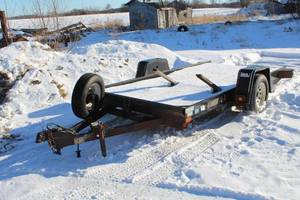 2007 Felling 12' Single Axle Tilt Utility Trailer