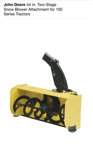 JOHN DEERE 44 in. Two-Stage Snow Blower Attachment for 100 Series Tractors! NEW SEE PICS!
